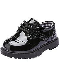 [snofiy] ローファー 学生 キッズ フォーマルシューズ 子供靴 男の子 レースアップ 通学靴 軽量 黒 白 入園式 卒園式 七五三 結婚式 発表会