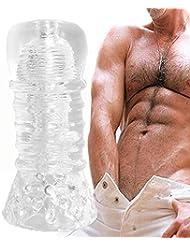 ディレイトレーニング装置男性オナニー TPRオナニーカップメンズ 男性オナニー G スポット刺激 超柔らかい 透明 情趣グッズ 大人のおもちゃ 男性用