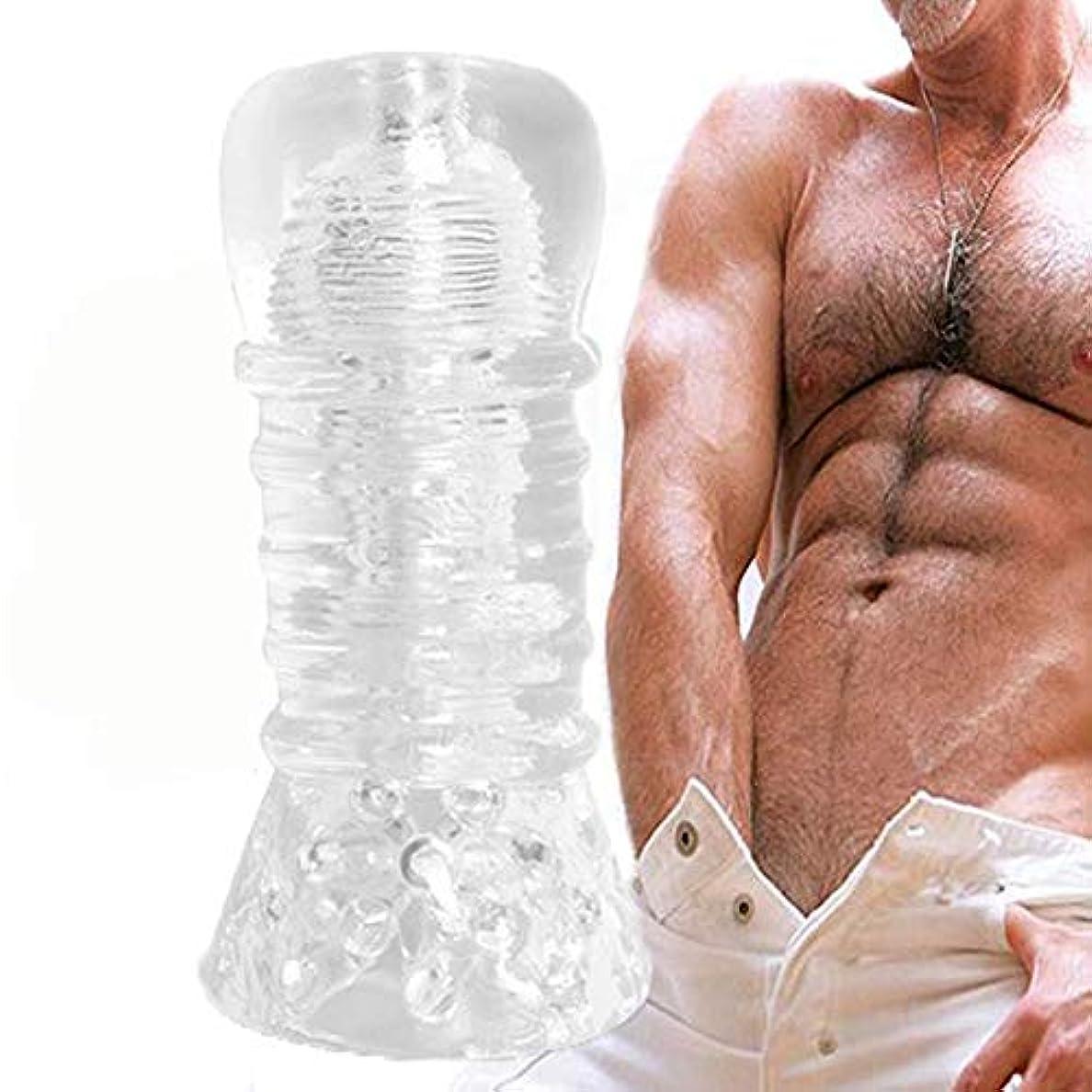 ペネロペ訪問バックアップディレイトレーニング装置男性オナニー TPRオナニーカップメンズ 男性オナニー G スポット刺激 超柔らかい 透明 情趣グッズ 大人のおもちゃ 男性用