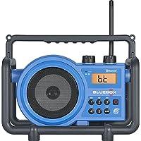 充電式ラジオ、受信機ラジオSangean FM AMハンドヘルドRugged、ブルー
