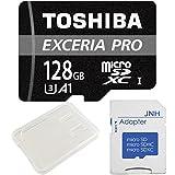 東芝 Toshiba microSDXCカード 128GB プロフェッショナル 最大読出速度95MB/s:最大書込速度95MB/s 超高速U3 4K アプリ最適化 Rated A1対応 + SD アダプター + 保管用クリアケース [バルク品]
