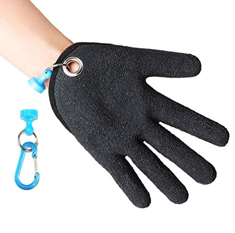運動する透明に器具KIKIGOAL 釣り用手袋 ハンディキャッチングフィッシュグローブ 釣り人用 切り傷 穴 傷から手を保護 XL 左手用