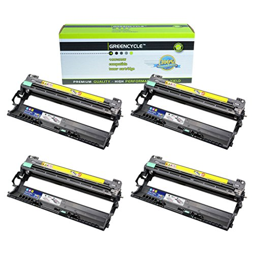 Greencycle交換dr210cl dr210シアンドラムユニット互換for Brother dcp-9010cn hl-3040cn 4 PK