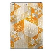 iPad mini4 スキンシール apple アップル アイパッド ミニ A1538 A1550 タブレット tablet シール ステッカー ケース 保護シール 背面 人気 単品 おしゃれ オレンジ 柄 三角 012063