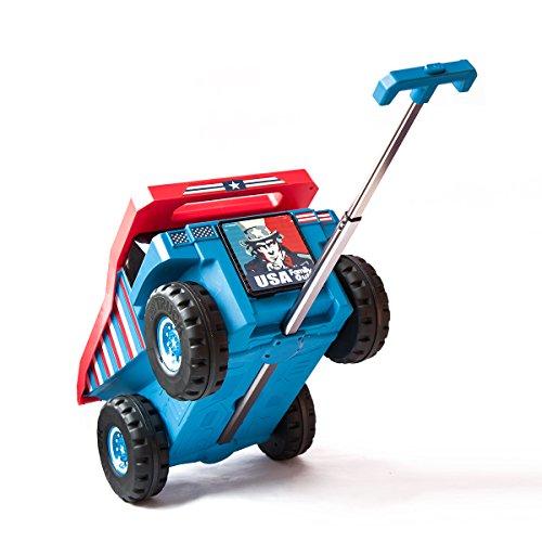 PUQU 子供 キャリーケース スーツケース 車 キッズ 多機能 キャリーケース おもちゃ箱にも兼用して使用可能 18L (ブルー)