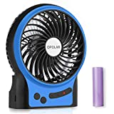 OPOLAR Portable Travel Battery Operated Fan with 4-15 Hours Battery Life, Rechargeable 3 Speeds Handheld Mini Fan with Powerful Airflow for Camp and Outdoor Events, USB Powered, Quiet, for Hot Flashes