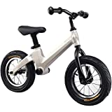 YUMEIGE ペダルなし自転車 ペダルなし自転車、 バランスバイク なし/厚く膨脹可能なホイール付き、子供用 バランス (子供用)、調節可能な座席15.7-19.6インチ3色 (Color : Gray)