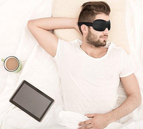PLEMO 立体型睡眠アイマスク 軽量・究極の柔らかシルク質感 睡眠、旅行に最適 (フリーサイズ) EM-452