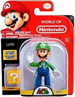 World of Nintendo 4 Luigi with Open Hands Toy Figure [Floral] [並行輸入品]