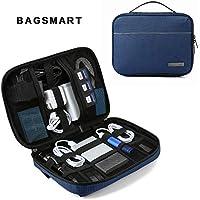 (バッグスマート) BAGSMART PC収納バッグ PC周辺小物用収納ポーチ 撥水加工 万能収納ケース 旅行 モバイル収納ケース