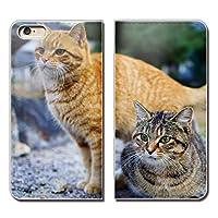 (ティアラ) Tiara Xperia XZ2 SO-03K スマホケース 手帳型 ベルトなし 猫 にゃんこ キャット ペット ネコ 手帳ケース カバー バンドなし マグネット式 バンドレス EB287010101303