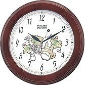 リズム時計 となりのトトロ キャラクター 掛け時計 トトロ M690A 木 茶 4KG690MA06