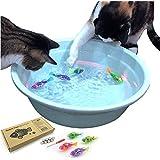 猫 おもちゃ ロボット魚 ペット用品 猫用品 電動おもちゃ 電動 LED魚 フィッシュ 魚のおもちゃ 猫おもちゃ 4点セット 追加バッテリー有