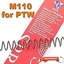 Systema PTW M4電動ガン用SHS M110スチールスプリング 【キーホルダー付】