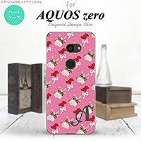 801SH AQUOS zero 801SH スマホケース カバー 花柄・バラ(I) ピンク ピンク 【対応機種:AQUOS zero 801SH 801SH】【アルファベット [U]】