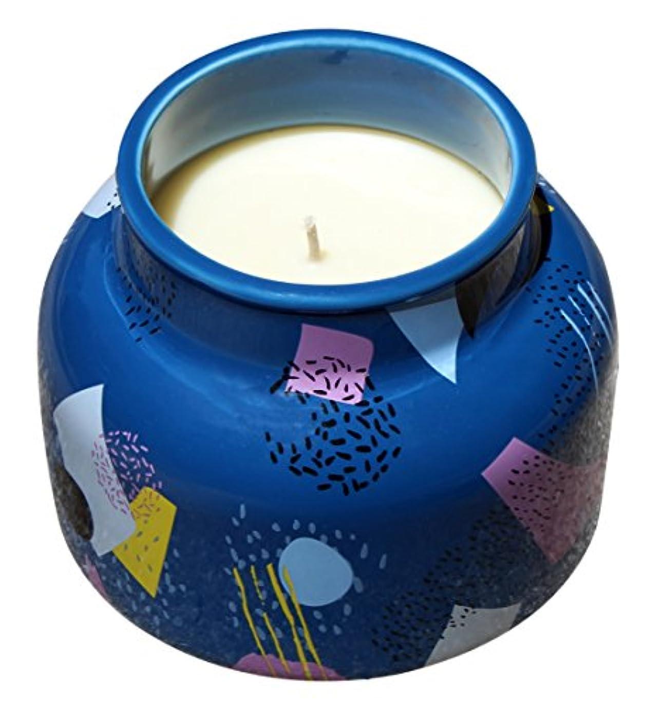 グラディスクローゼットファイルカプリブルー19オンスScented Candleカラフルセラミック燃焼時間60時間、Volcano
