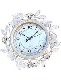 komanakomi 花 おしゃれ 壁掛け 時計 アンティーク 欧風 リビング 寝室 シズネイケア時計