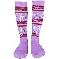 Little Girls Ski Socks Over Calf Winter Sports Socks Purple XS