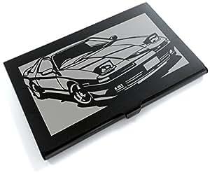 ブラックアルマイト「トヨタ(TOYOTA) スープラ JZA70」切り絵デザインのカードケース[CC-075]