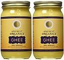Ancient Organics, 100 オーガニック GHEE-16 FL OZ (ギー) 473.2 ml (2個セット) 並行輸入品