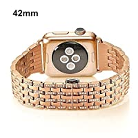 Ramida Apple Watch Replacement Band Alloy Crystal Rhinestone Diamond Stainless Steel Watch Bands 42mm In Hot Sale! (Rose Gold) [並行輸入品]