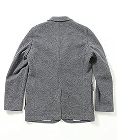 Plus Wool Flannel Jersey 3-button Jacket 11-16-0309-803: Grey