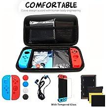 FITMATE(フィットメイト)Nintendo Switch アクセサリー 13IN1 任天堂スイッチ ケース 保護フィルム ニンテンドー スイッチJoy-Conカバー +イヤホン+Joy-Con(L)(R)専用カバー+スライドパッドカバー ブラック