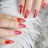 XUTXZKA 女性の指のための爪のマニキュアのヒントにブラックカバーネイルシルバーメタリックライン装飾短押し