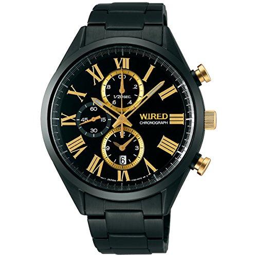 [WIRED]ワイアード 腕時計 「ブラック&ゴールド」 限定1000本 クオーツ ハードレックス 10気圧防水 AGAV796 メンズ