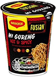 MAGGI Fusian Noodle Cup Mi Goreng Hot & Spicy, 65g