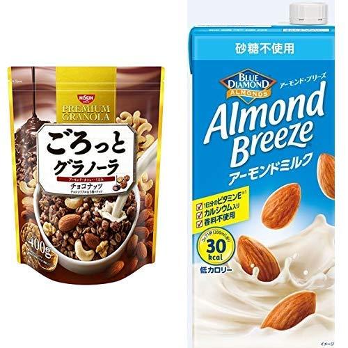 【セット買い】ごろっとグラノーラチョコナッツ400g 400gX6袋 + アーモンド・ブリーズ 砂糖不使用 1L×6本