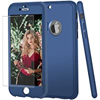 (Navy) - iPhone 7 case, VPR 2 in 1 Ultra Thin Full Body Protection Soft Premium Luxury Cover [Slim Fit] Shock Absorption Skid-proof TPU case for Apple iPhone 7 (4.7inch) (Navy)