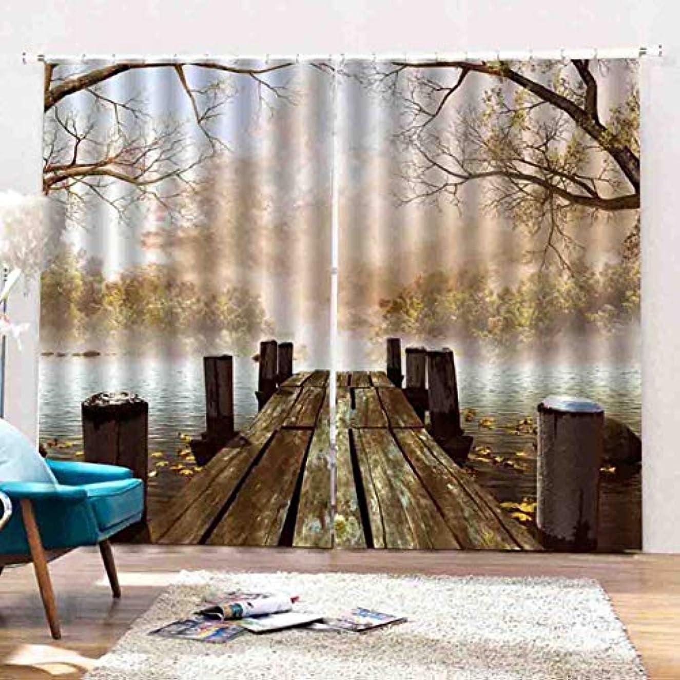 条約ジョージハンブリー現象デジタル3D遮光カーテンリビングルームの寝室の窓は紫外線防止窓シールドをドレープ(12)(色:多色)