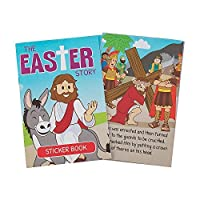 Fun Express - The Easter Story Sticker Book for Easter - Stationery - Activity Books - Activity Books - Easter - 12 Pieces [並行輸入品]