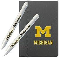 グリーティングペン ミシガンウルヴァリンズ 4インチ x 6インチ ノートブック / ペン2本セット (1110M2)