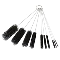 Dxg 8.2 Inch Nylon Tube Brush Set Cleaning Brush Set for Drinking Straws,Glasses,Keyboards,Jewelry Cleaning,Set of 10 [並行輸入品]
