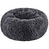 SAVFOX Long Plush Comfy Calming & Self-Warming Orthopedic Bed for Cat & Dog, Anti Anxiety, Furry, Soothing, Fluffy, Washable,