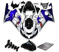 9FastMotosuzuki スズキ 2000 2001 2002 GSXR1000 00 01 02 GSXR 1000 用フェアリング オートバイフェアリングキット ABS 射出成形セット スポーツバイク カウル パネル (ブルー & ブラック) S1271