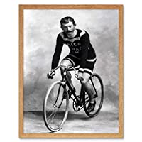 Travel Cycling Cyclist Vintage Bicycle Vintage Retro Advertising Art Print Framed Poster Wall Decor 12X16 Inch 旅行ビンテージ自転車ビンテージレトロ広告ポスター壁デコ