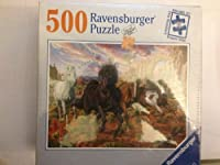 Ravensburger 500 Piece Puzzle - Horses in the Canyon