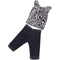 Lovoski 人形 ファッション Tシャツ&パンツ スーツ 服 バービーケンドール対応 全4種類  - #1