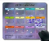 2019カレンダーマウスパッドキーボード、カレンダーウォールゲームマウスパッド、カレンダープランナー2019休日の詳細