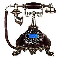 GJ オフィス家の装飾に使用されるソリッドウッドの電話アンティークハンズフリーの土地 GJDSF (サイズ さいず : L l)