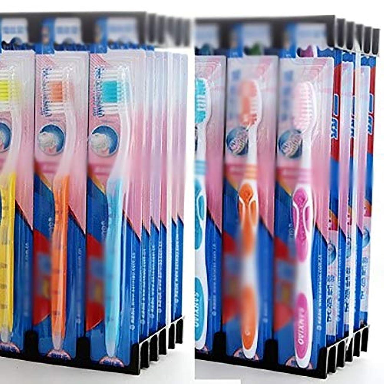 ピストンスプリットクリップ蝶歯ブラシ 30本のバルク歯ブラシ、ソフト毛歯ブラシ、歯科衛生の深いクリーニング - 使用可能なスタイルの3種類 KHL (色 : B, サイズ : 30 packs)