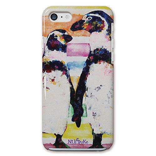 Nijisuke ( ニジスケ ) iPhone7 4.7 インチ ディスプレイ ケース カバー ペンギン・親子 側面印刷 / スマホケース