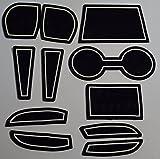 KINMEI(キンメイ) マツダ デミオ DEMIO DJ系 白 専用設計 インテリア ドアポケット マット ドリンクホルダー 滑り止め ノンスリップ 収納スペース保護dj-w