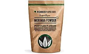 Certified Organic Raw Moringa Powder 500g Premium Quality (90 day supply) No fillers No GMOs