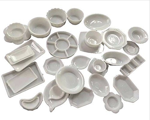 SeleCreate ミニチュア お皿 食器 32点 セット 白
