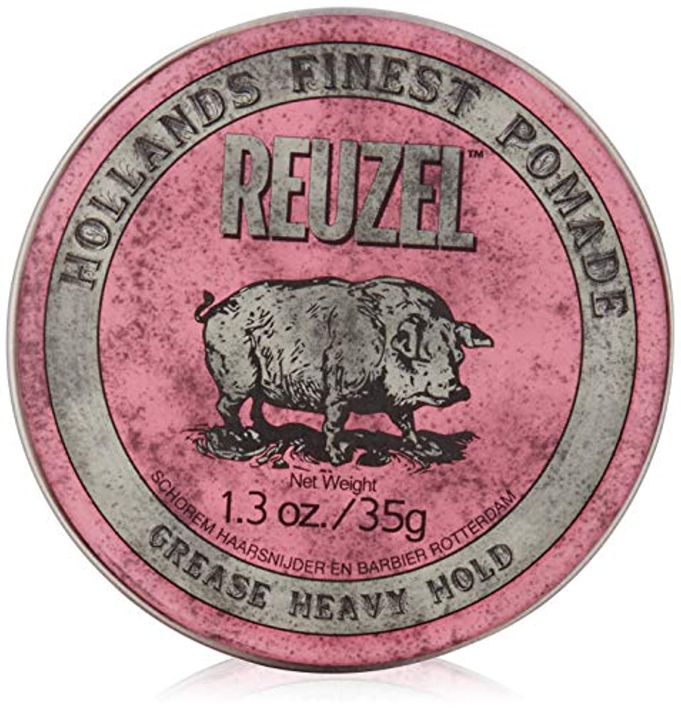 爪リズミカルな戦争REUZEL INC Reuzelミディアムシーンポマード、1.3オンス 0.2 ピンク