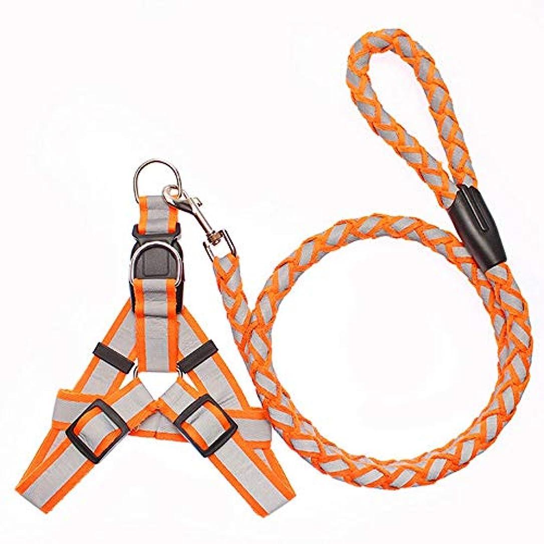 古いリーガンビーズHexiaoyi 毎日何フロントクリップで引っ張らない犬ハーネス、トレイルランニング、ウォーキング、ハイキング、終日のペット反射首輪を着用してください (色 : オレンジ)